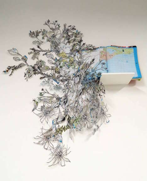 Floral Map Installations