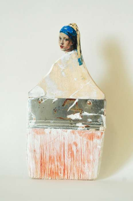Iconic Paintbrush Portraits - Rebecca Szeto's Historical Art Pieces are Incredibly Detailed