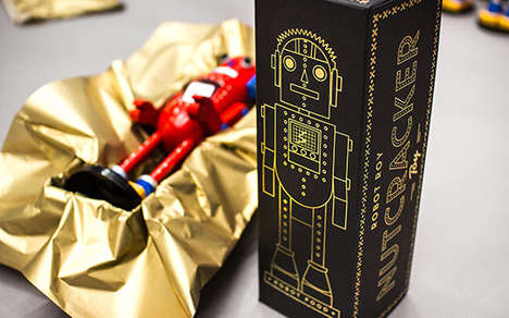 Luxe Nutcracker Boxes - Robot Food's Limited Edition Christmas Nutcrackers Update a Holiday Staple
