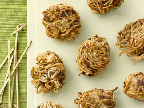 Ramen-Covered Meatballs