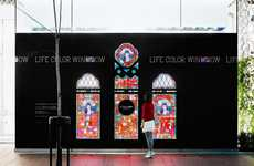 Digitized Stained Glass Windows - Shiseido's Interactive Store Display Draws Consumers In