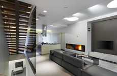 Metamorphosed Modern Apartments - The NNS Apartment is Centered Around a New Staircase