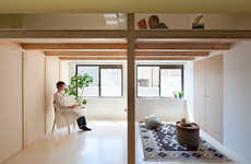 Elavated Mezzanine Lofts - This Japanese Apartment Features a Secret Reading Room
