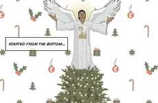 Rapper Holiday Greetings - Send Well Wishes This Winter Season with Drake Christmas Cards