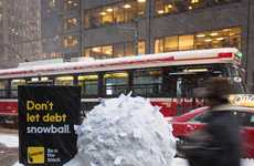 Comical Credit Ads - Interac's Funny Winter Ads Make the Most of Canada's Cold Season