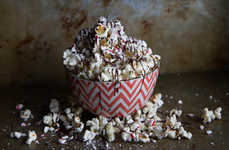 Candy Cane Popcorn - This Delicious Chocolate Candy Popcorn Makes for a Yummy Holiday Treat