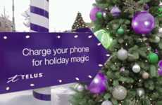 Surprising Holiday Stunts - TELUS' Christmas Marketing Stunt Treats Phone Users to Holiday Magic