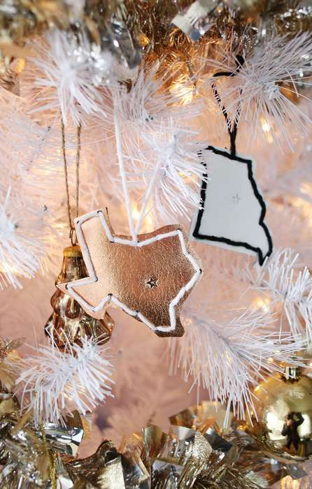 Stitched State Ornaments