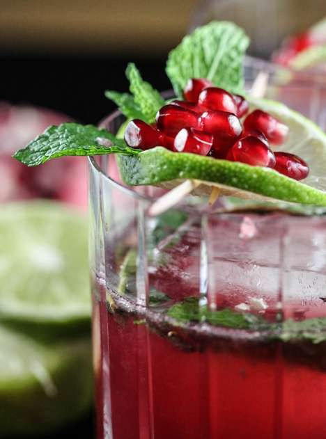 Pomegranate Christmas Cocktails