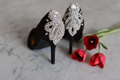 Embellished Heel Accents - This Tutorial Showcases How to Instantly Add Some Glamor to Your Shoes