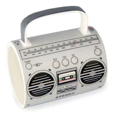 Retro Music Player Mugs - The Boombox Mug will Delight Consumers Nostalgic About the 70s and 80s