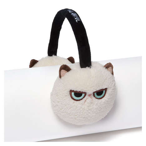 Internet Meme Earmuffs - These Grumpy Cat Earmuffs as Perfect for Fans of this Famous Feline