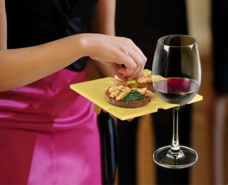 Adaptable Party Platters - These Wine Holding Party Plates are Ideal for Multitasking
