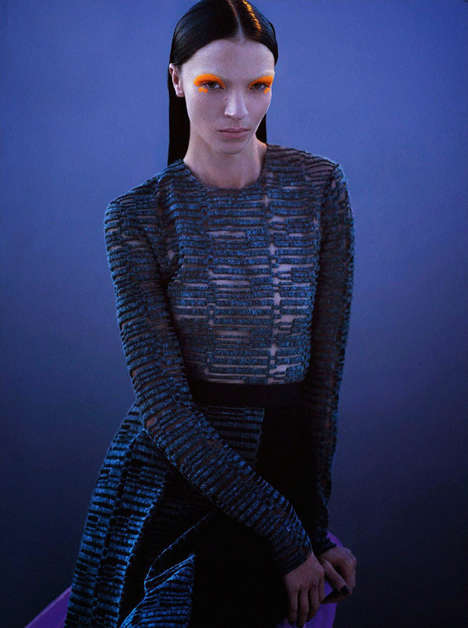 Fiercely Futuristic Editorials - The Vogue Paris Mariacarla Boscono Photoshoot Includes Modern Notes