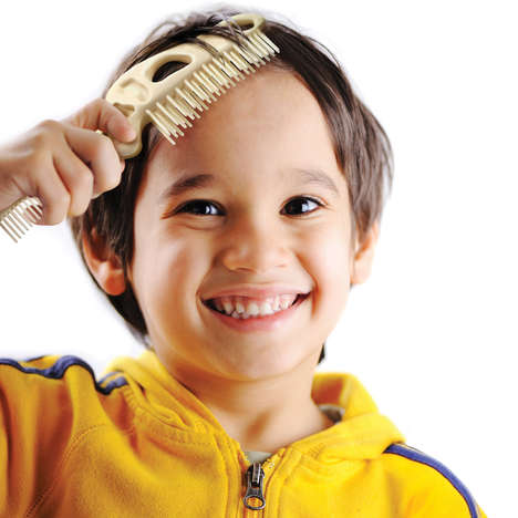Prehistoric Kid Brushes - The BONEHEAD Comb & Brush Makes Grooming Fun for Kids