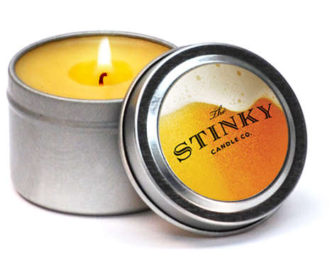 Brew-Scented Candles - The Beer Scented Candle Will Fill the Room with an Aroma of Booze