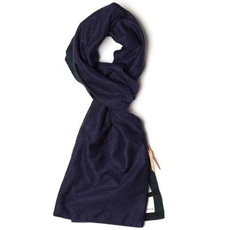 Conveniently Zippered Scarves - The Nanamica Utility Muffler Features a Unique Zippered Compartment