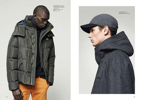 Urban Sportswear Catalogs - The Latest Lacoste Lookbook Marries Performance with Practicality