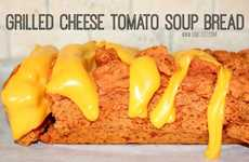 Cheesy Tomato Soup Loaves - This Grilled Cheese Tomato Soup Bread Recibe Combines Classic Lunch Bits