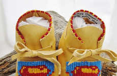 Comic Hero Moccasins - These Handmade Baby Moccasins Boast Pop Culture Imagery