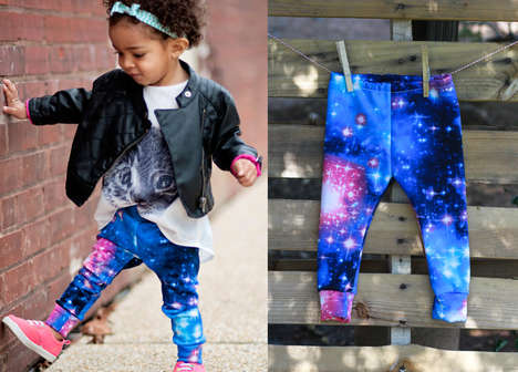 Galactic Baby Fashion - These Galaxy Print Leggings Will Make Your Kid the Talk of the Town