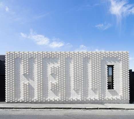 Typographic Brick Facades