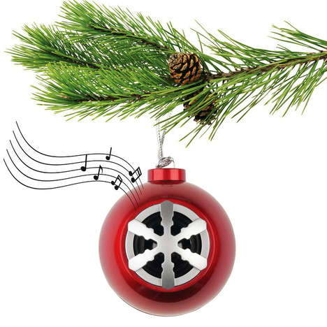 Musical Tree Decorations - The Acoustic Research Ornament Bluetooth Speaker is Party Ready