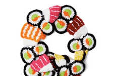 Delectable Sushi Scarves - The All the Sushi Details Scarf is Perfect for Japanese Cuisine Fans