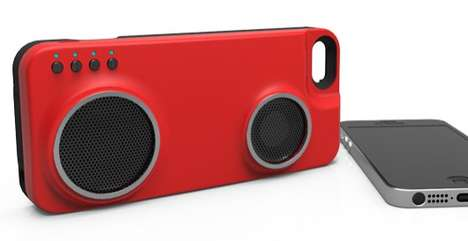 Sound-Blasting Phone Cases - The Peri Duo Charges Your iPhone and Plays Music
