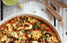Peanutty Ramen Soups - This Recipe Provides an Asian Take on the Classic Chicken Noodle Soup