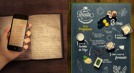 Recipe Infographic Campaigns - Knorr Brazil Will Turn Your Family Recipe Into a Typographic Poster