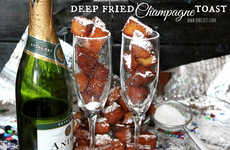 Deep Fried Champagne Bites - These Edible Champagne Toast Cubes are Ideal for New Year's Eve