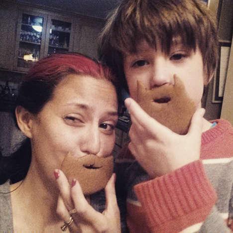 Gingerbread Beard Cookies