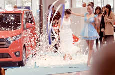 Fantastical Car Stunts - Nissan's Flash Dress Up Has Its Dayz Model Perform Magic
