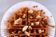 Poutine Waffle Recipes - The Vulgar Chef Made a French Fry Waffle and Topped it Canada-Style