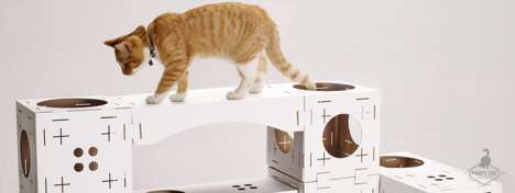 Modular Feline Playhouses