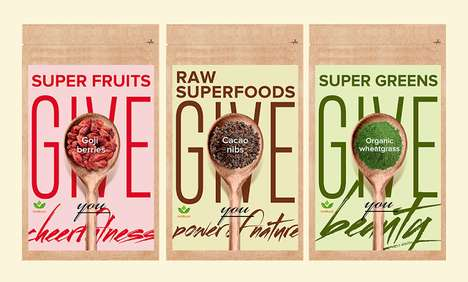 Wholesome Superfood Packets - Nutriboost's Healthy Packaging Designs Show the Power of Superfoods