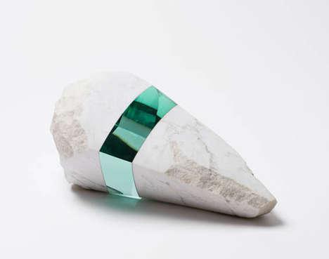 Glass-Embedded Sculptures
