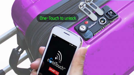 One-Touch Luggage Locks - The Award-Winning eGeeTouch System is Being Displayed at CES 2015