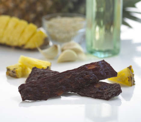 Exotic Beef Snacks - This Dried Beef Sirloin Snack is Infused with Teriyaki and Pineapple Flavors