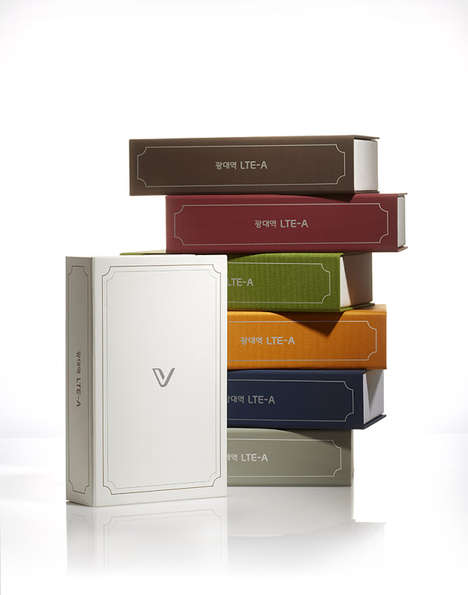 Novel Smartphone Packaging - This Phone Package Design Takes Inspiration from a Hardcover Book