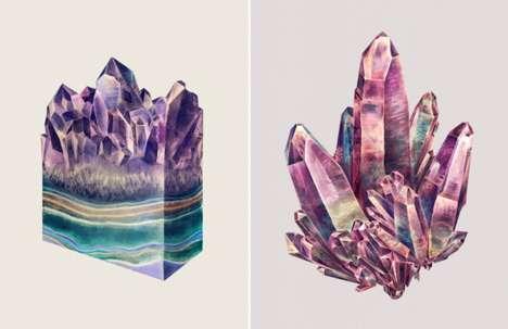 Layered Crystal Illustrations