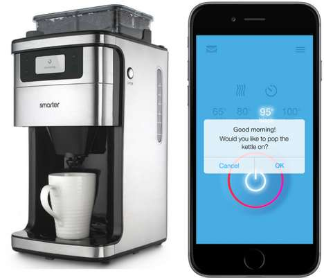 Wi-Fi Coffee Machines - Smarter's Wi-Fi Connected Coffee Maker Brews According to Your Sleep