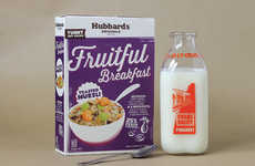 Retro Muesli Boxes - Hubbards Originals Muesli Cereal Packaging Takes Cues from the Past