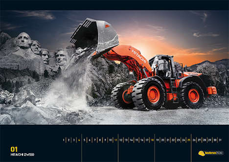 Glamorized Tractor Calendars