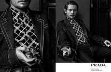 Retro Actor Advertorials - This Prada Menswear Campaign Features Jack O'Connel