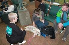 Travel Therapy Dogs - Edmonton's International Airport Uses Dogs to Soothe Weary Travelers