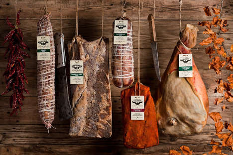 Bare Bound Branding - String Meat Packaging Minimizes Waste and Communicates Authentic Taste