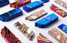 Vibrantly Fossilized Bookmarks - The Bakery's Brightly Patterned Bookmarks are Inspired by Nature