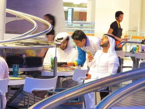 Roller Coaster Restaurants - This Abu Dhabi Restaurant Delivers Food Like Theme Park Rides